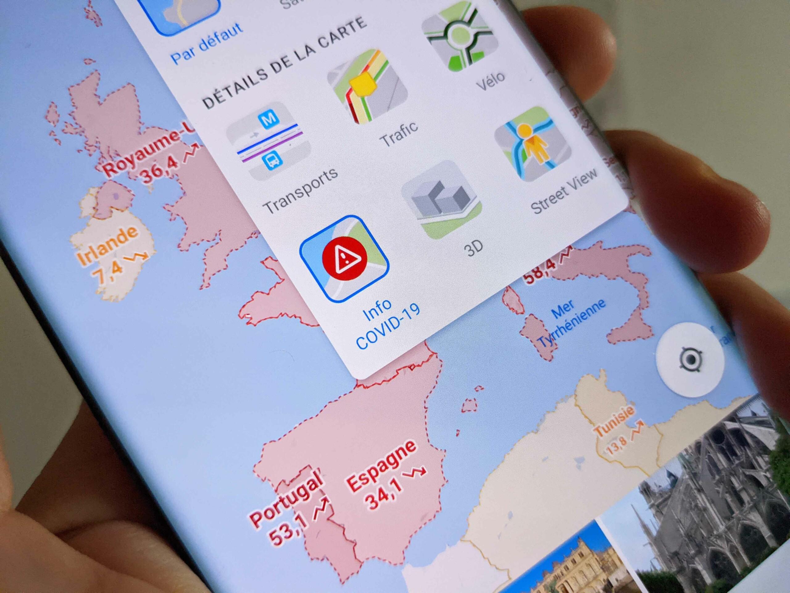 Google Maps renforce ses fonctions pour mieux faire face au Covid-19