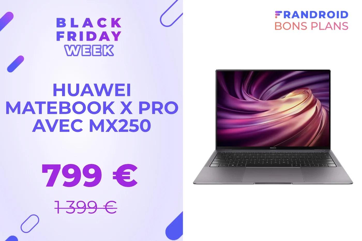 Le performant Huawei Matebook X Pro est 600 € moins cher pour le Black Friday