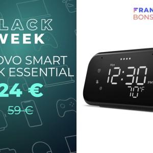 Le réveil intelligent Lenovo Smart Clock Essential coûte déjà moins de 25 €