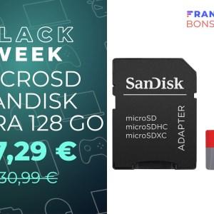 La microSD SanDisk Ultra 128 Go n'a jamais été aussi abordable que maintenant