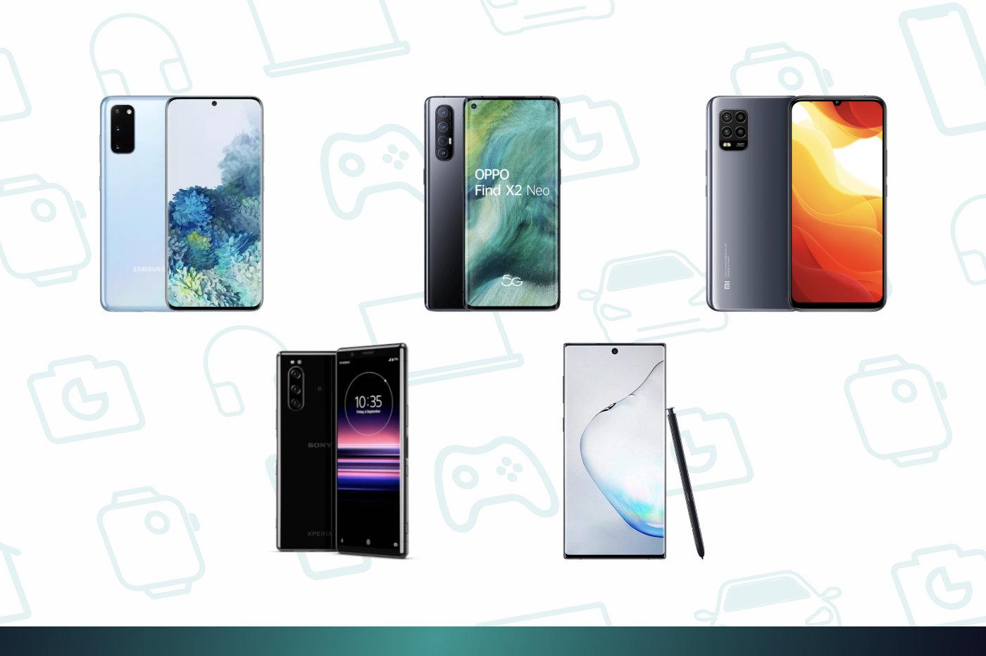 SFR baisse le prix de nombreux smartphones (nus): Galaxy Note 10 à 479euros ou Xiaomi Mi10 Lite 5G à 249euros
