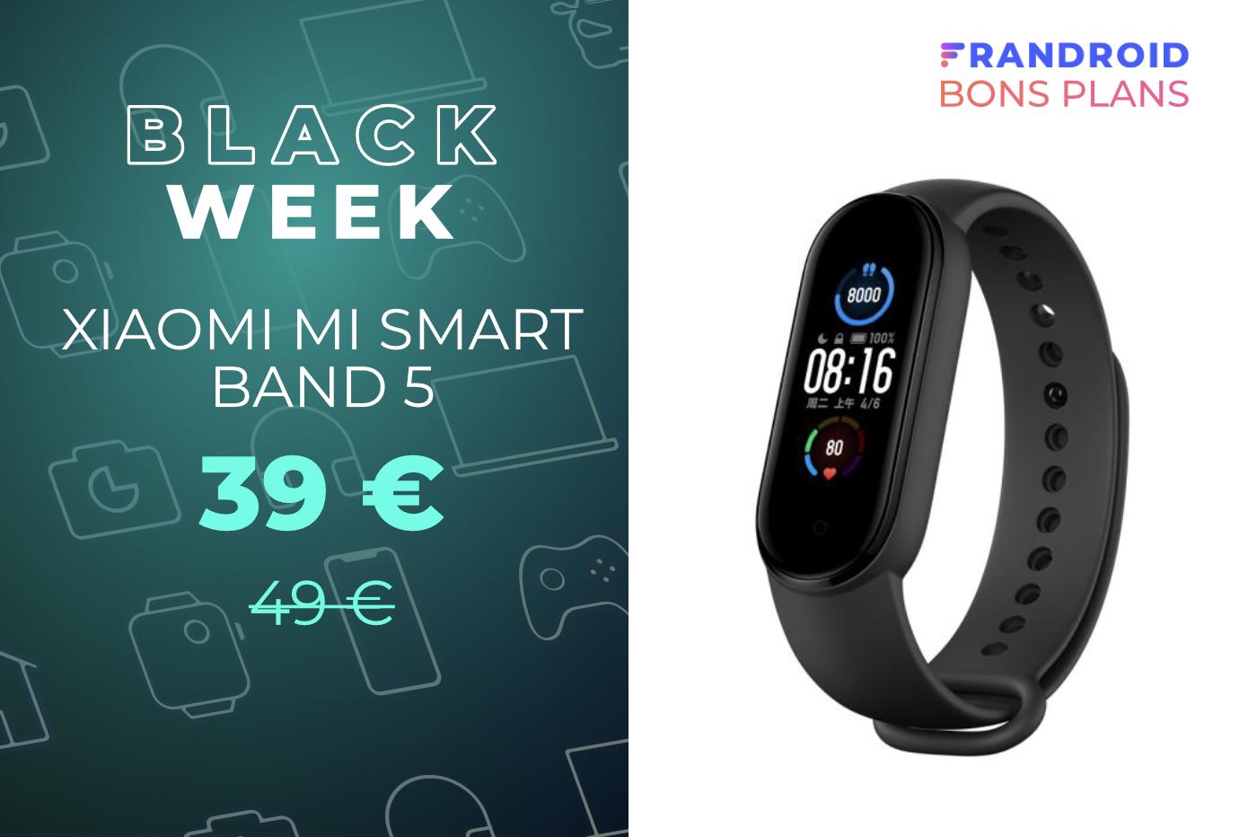 Le bracelet connecté Xiaomi Mi Smart Band 5 est 10 euros moins cher en ce moment