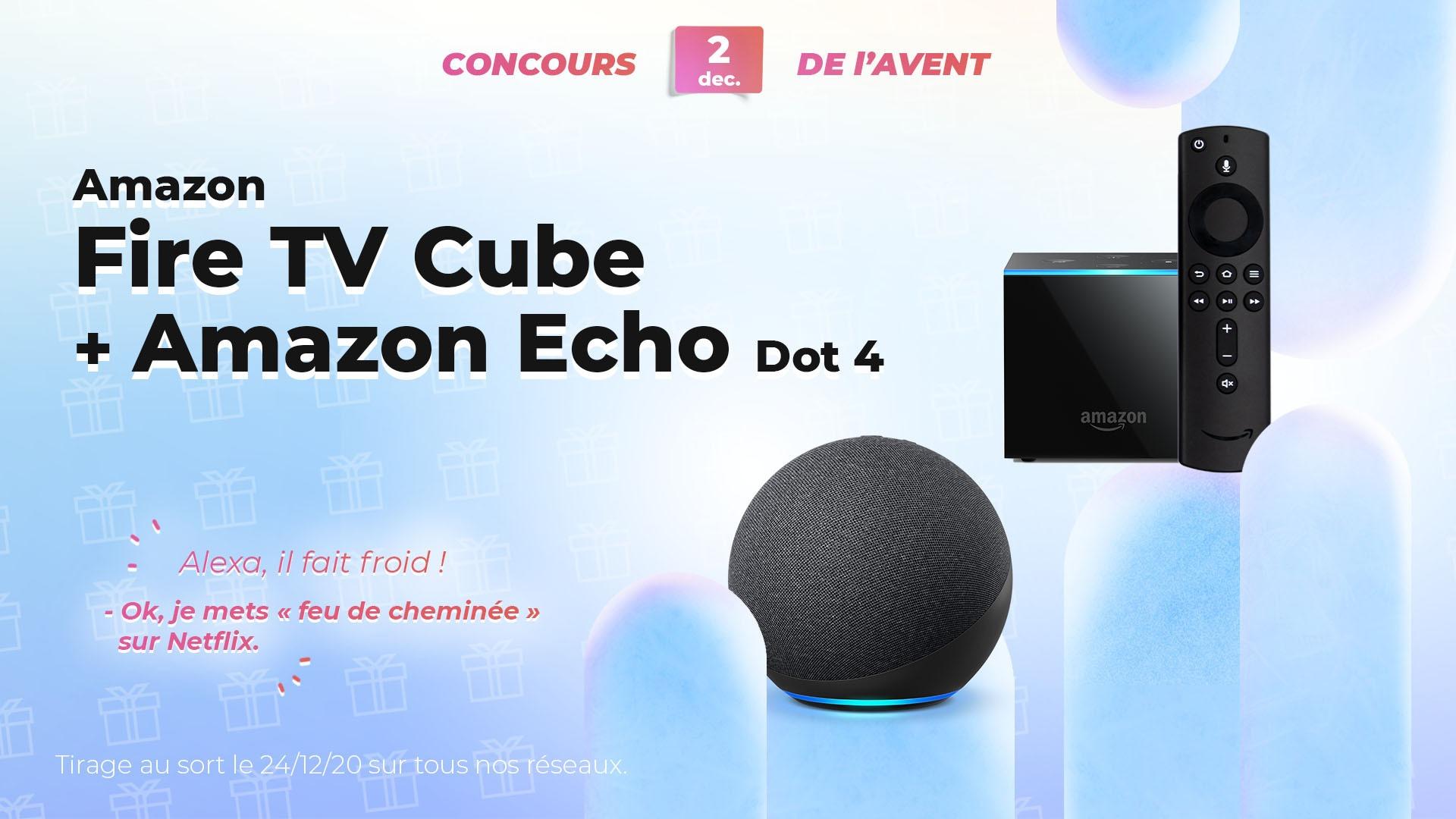 #FrandroidOffreMoi un pack complet Amazon Alexa avec enceinte et boitier TV