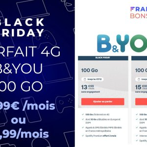 Black Friday Bouygues : 100 Go + illimité le week-end à 15,99 €/mois