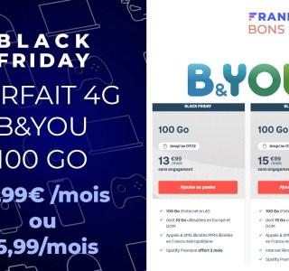 Black Friday Bouygues : 100 Go + illimité le week-end à 15,99 €/mois