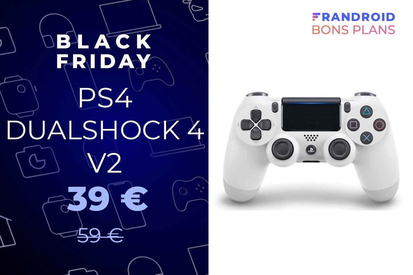 La manette PS4 Dualshock 4 V2 à -33 % pour le Black Friday