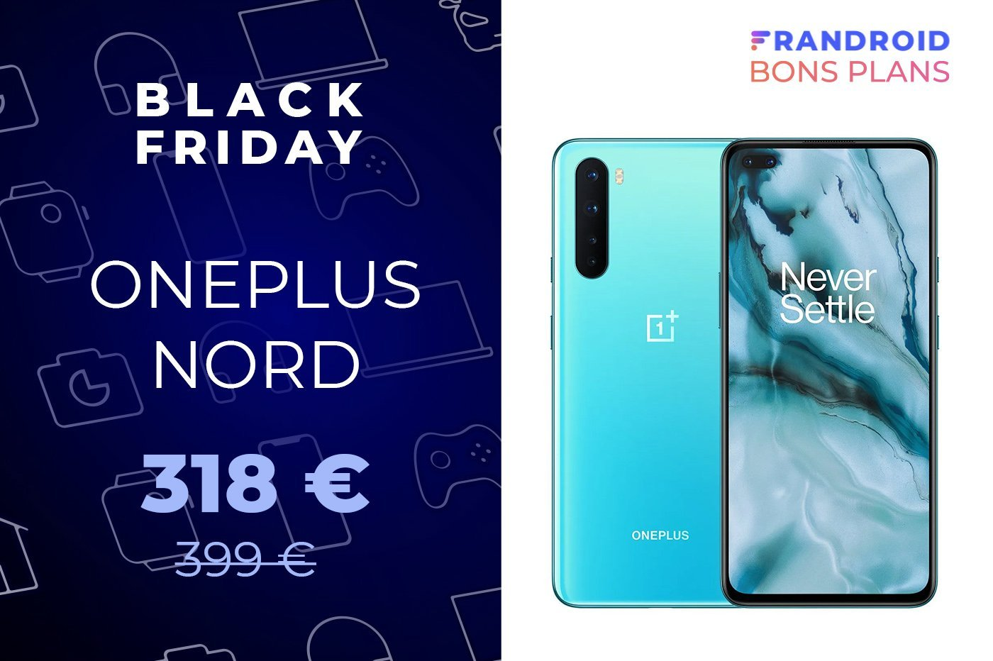 L'excellent OnePlus Nord passe de 399 à 318 € pour le Black Friday