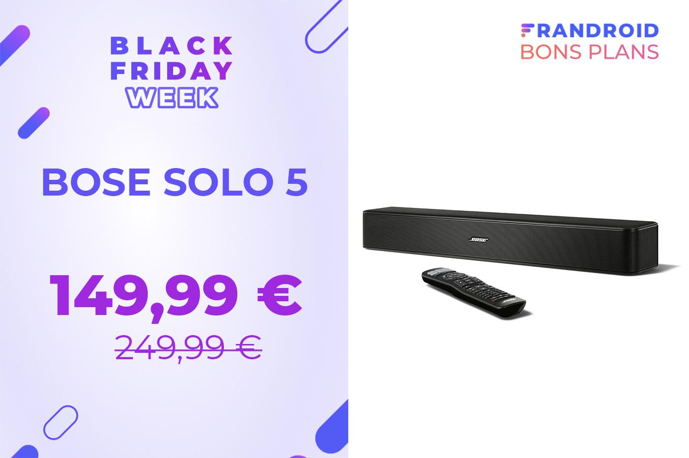 La puissante barre de son Bose Solo 5 perd 100 euros pour le Black Friday