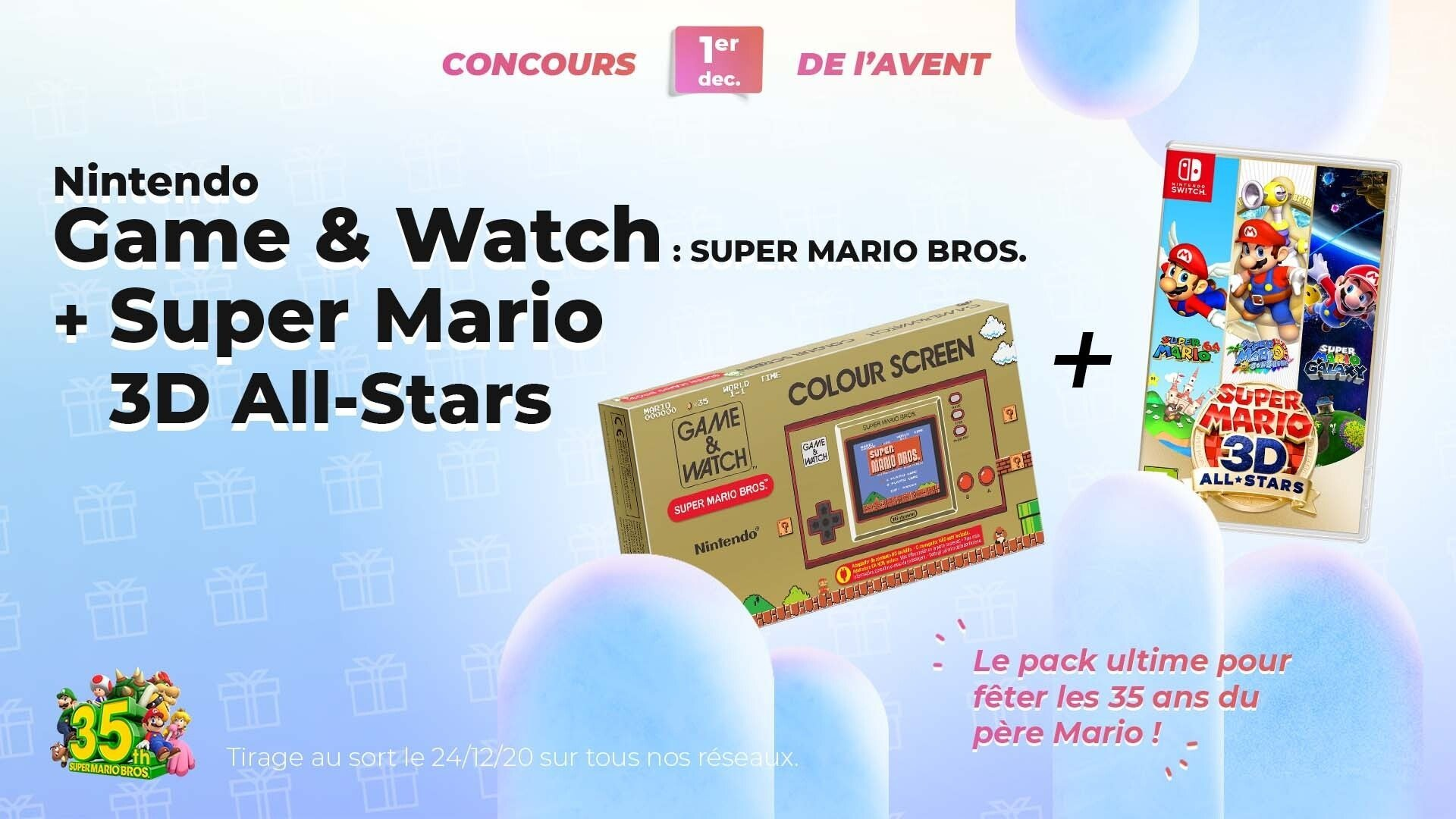 #FrandroidOffreMoi un joli lot Super Mario (Game & Watch + jeux Switch)