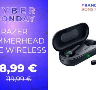 Les true wireless Razer Hammerhead à moins de 50 € pour le Cyber Monday