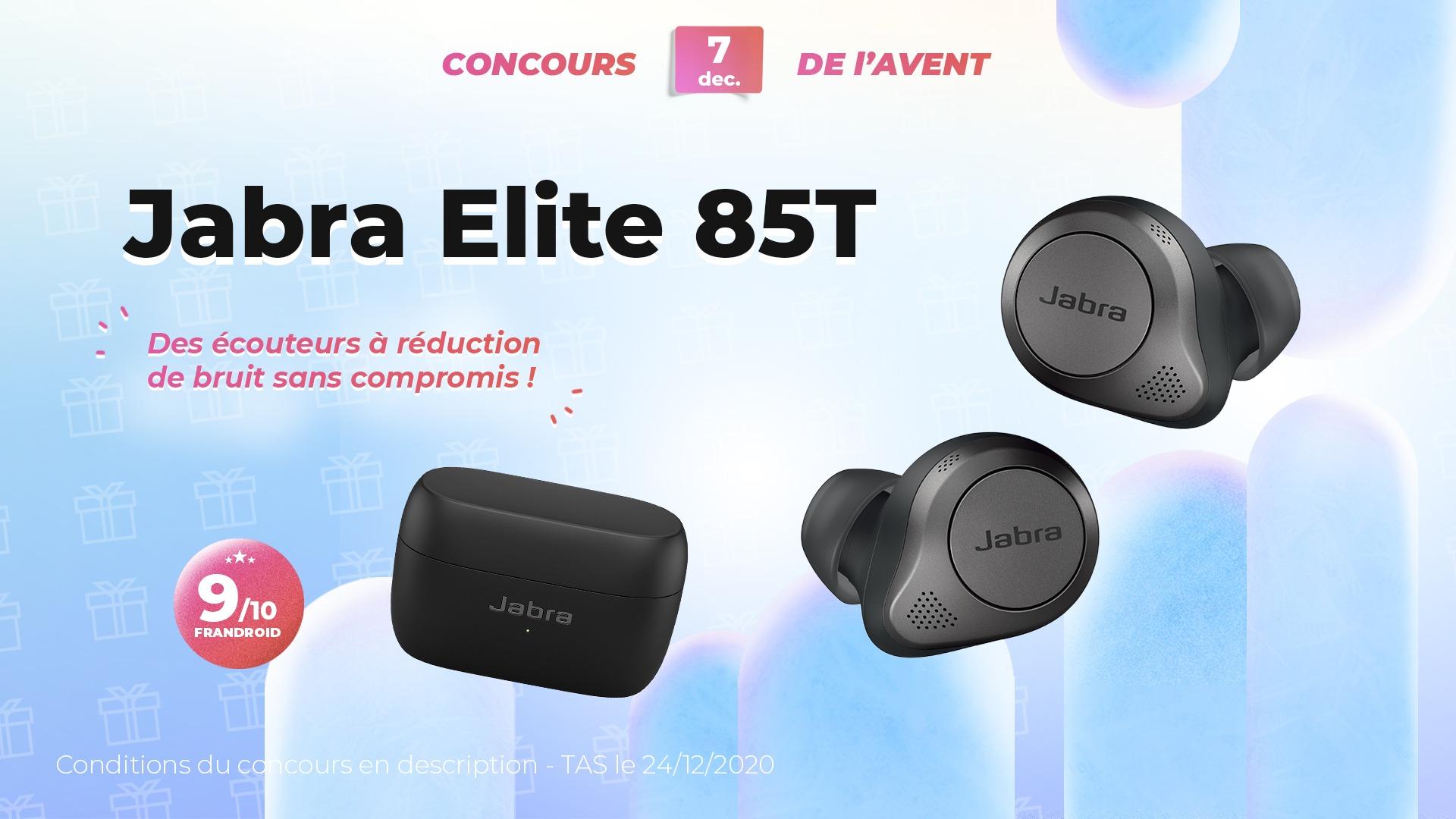 #FrandroidOffreMoi des écouteurs true wireless à réduction de bruit (Jabra Elite 85T)