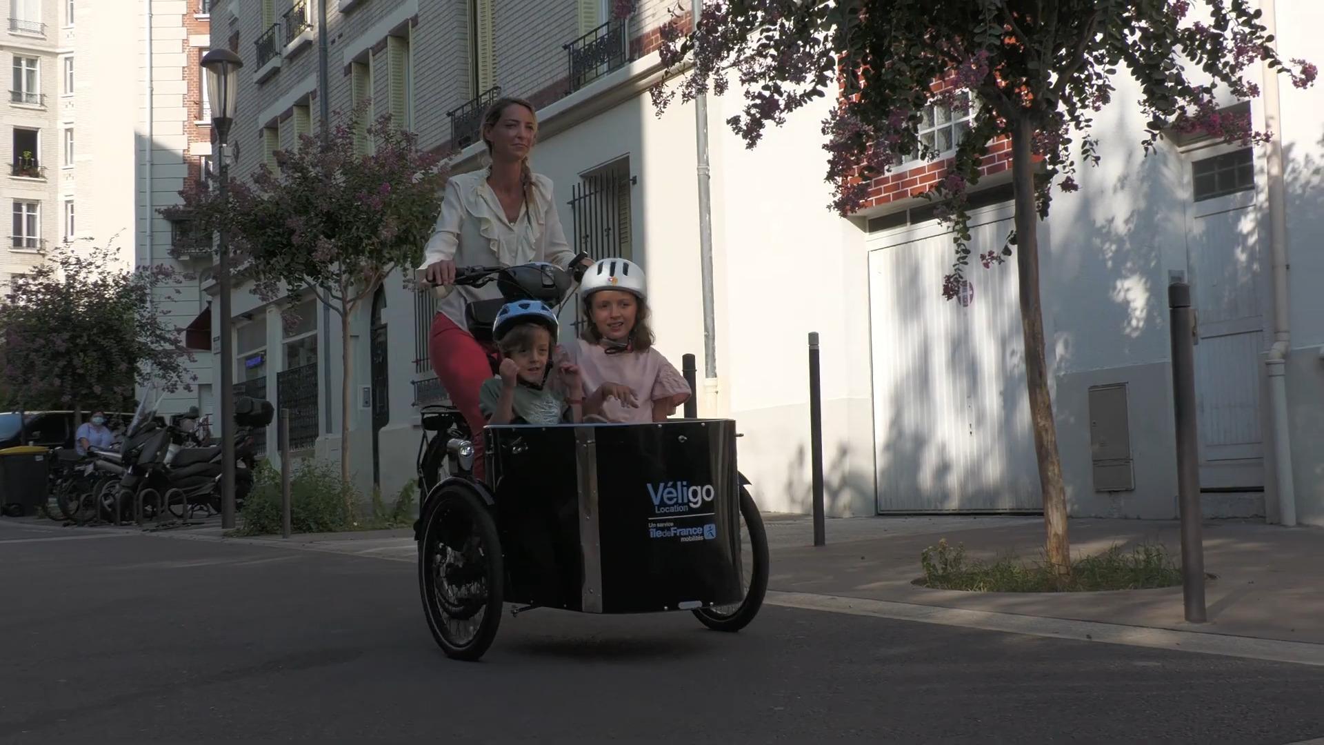 Triporteur, biporteur, rallongé: Véligo vise les familles avec ces 3 vélos électriques en location