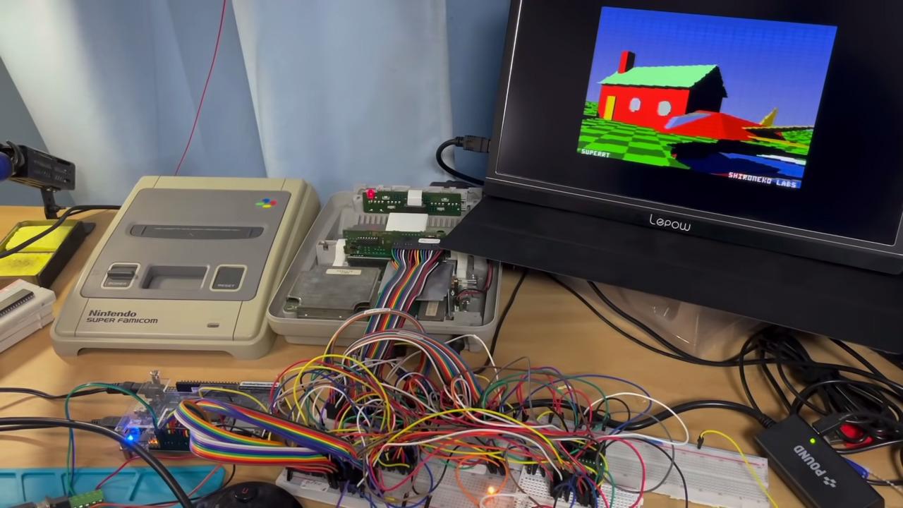 Un petit malin ajoute du ray tracing à une Super NES