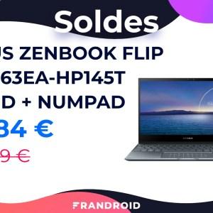 Asus ZenBook Flip : ce laptop avec écran OLED est soldé avec 215 € de réduction