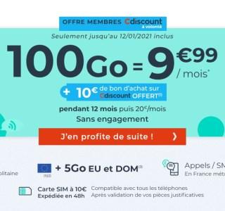 Derniers jours pour ce forfait mobile 100 Go à moins de 10 euros par mois