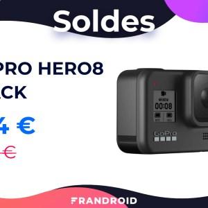 Plus de 100 € de réduction pour la GoPro Hero8 Black lors des soldes