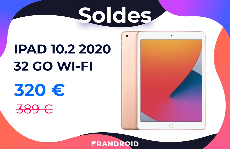 iPad 2020 : la tablette abordable d'Apple baisse encore plus son prix pour les soldes