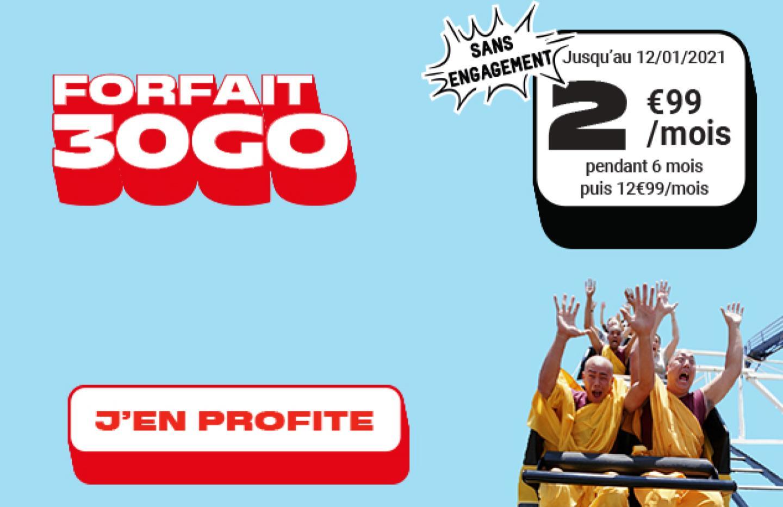 Dernières heures pour profiter de ce forfait mobile 30 Go à 3 €/mois