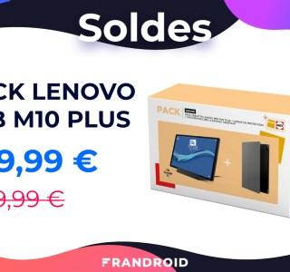 Ce pack Lenovo Tab M10 Plus est affiché à 220 euros pendant les soldes