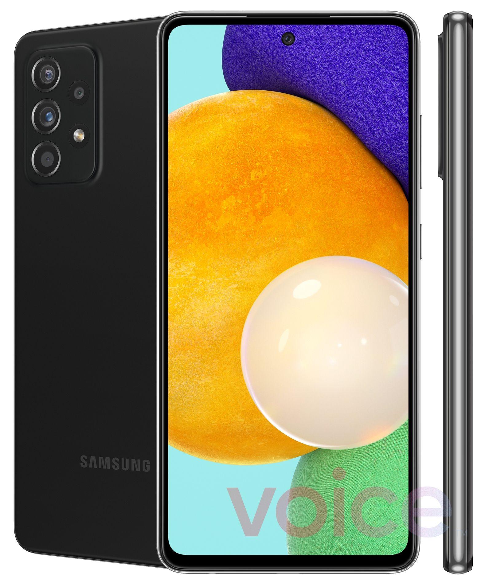 Samsung GalaxyA52 et A72: de premiers visuels marketing dévoilent leur design