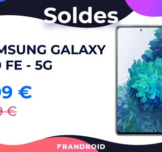 La version 5G du Samsung Galaxy S20 FE chute sous les 500 € lors des soldes
