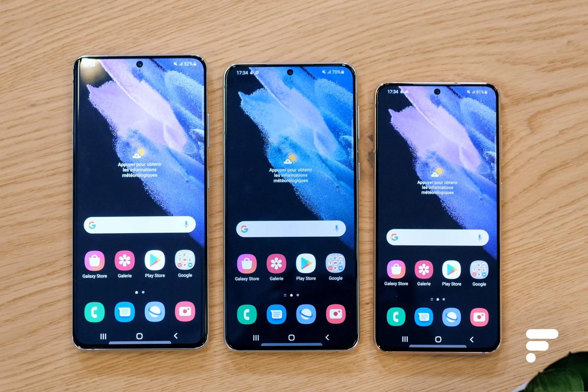 Samsung Galaxy S22 : les écrans seraient légèrement plus petits que sur les S21