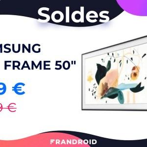 Samsung The Frame 50″ : ce TV QLED 4K en forme de tableau est à -30 %