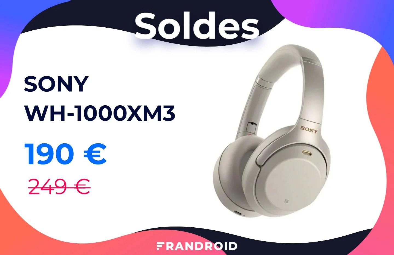L'indémodable casque sans fil Sony WH-1000XM3 est soldé à 190 euros