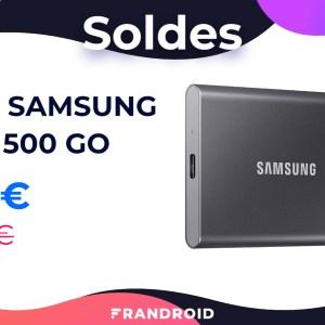 Le SSD externe Samsung T7 500 Go est de retour à bon prix pour les soldes