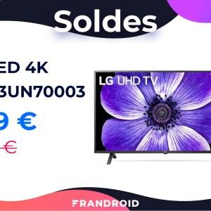 Ce téléviseur LED 4K/HDR10 de LG n'est qu'à 329 euros pour les soldes