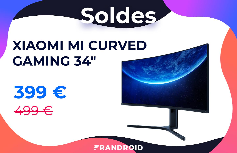 L'écran Xiaomi Mi Curved Gaming 34″ à 144 Hz est 100 € moins cher