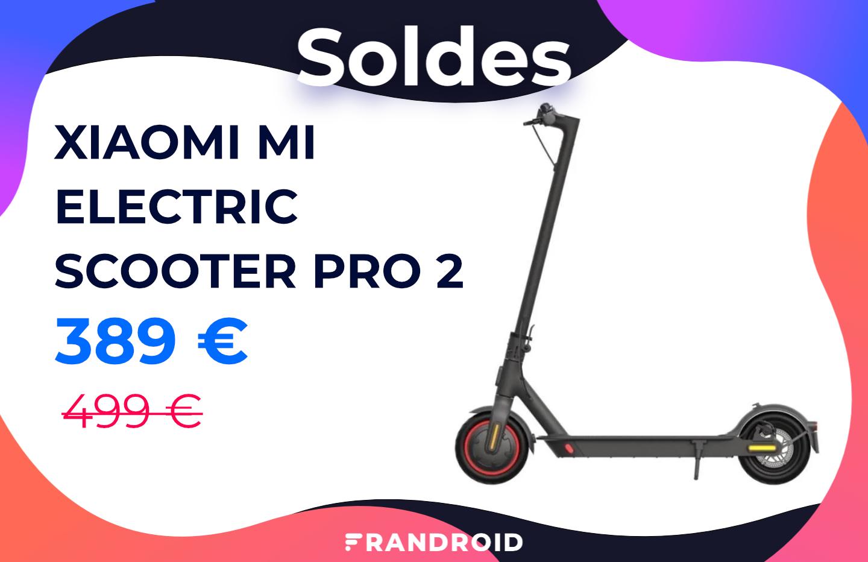 La trottinette Xiaomi Mi Electric Scooter Pro 2 coûte 110 € de moins pour les soldes