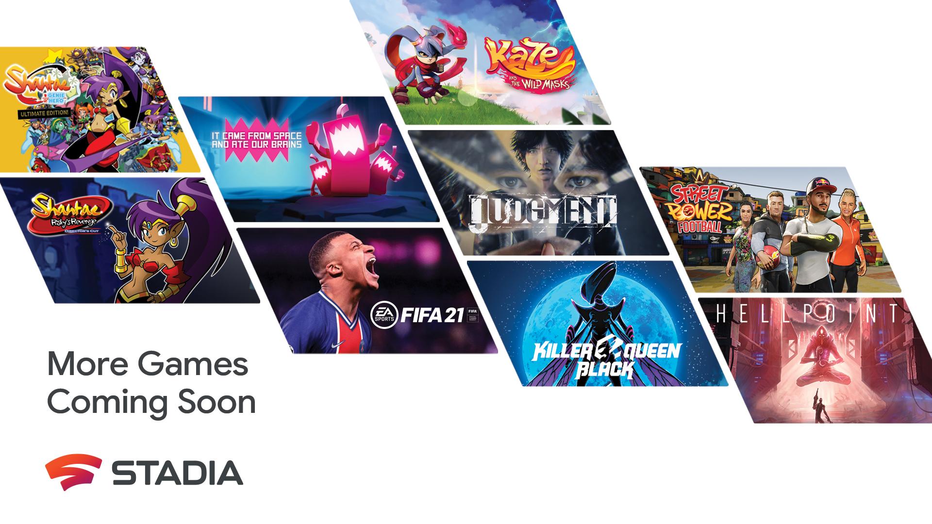 Google Stadia promet plus de 100 jeux à venir à son catalogue en 2021