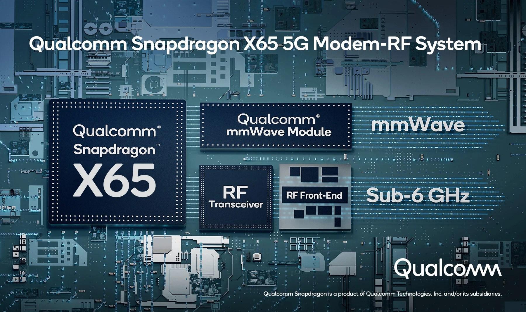Qualcomm Snapdragon X65 et X62: voici la nouvelle génération de modem 5G avec des débits jusqu'à 10 Gb/s
