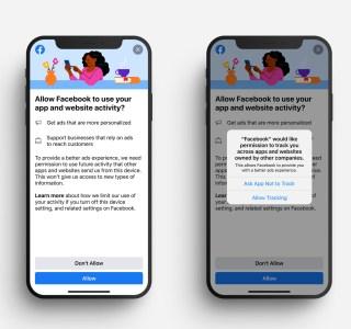 Facebook et Instagram: sur iOS14, vous serez incités à dire oui aux pubs ciblées