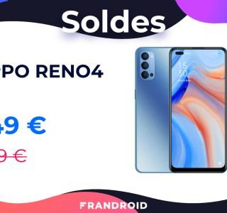 100 euros de remise et un casque audio offert avec l'Oppo Reno4 chez RED