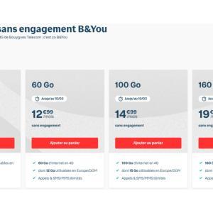 Bouygues Telecom étend son offre B&You avec un forfait mobile 160 Go