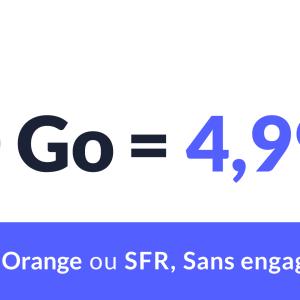 Ce forfait mobile propose 10 Go de data pour moins de 5euros sur les réseaux Orange ou SFR