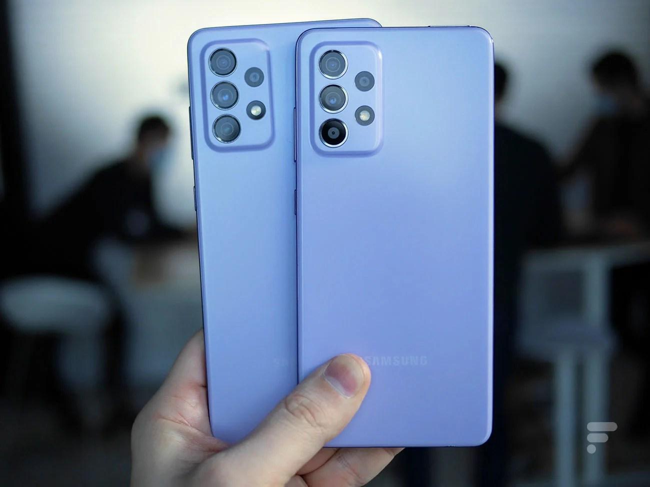 Prise en main des Samsung Galaxy A52, A52 5G et A72: le diable se cache dans les détails