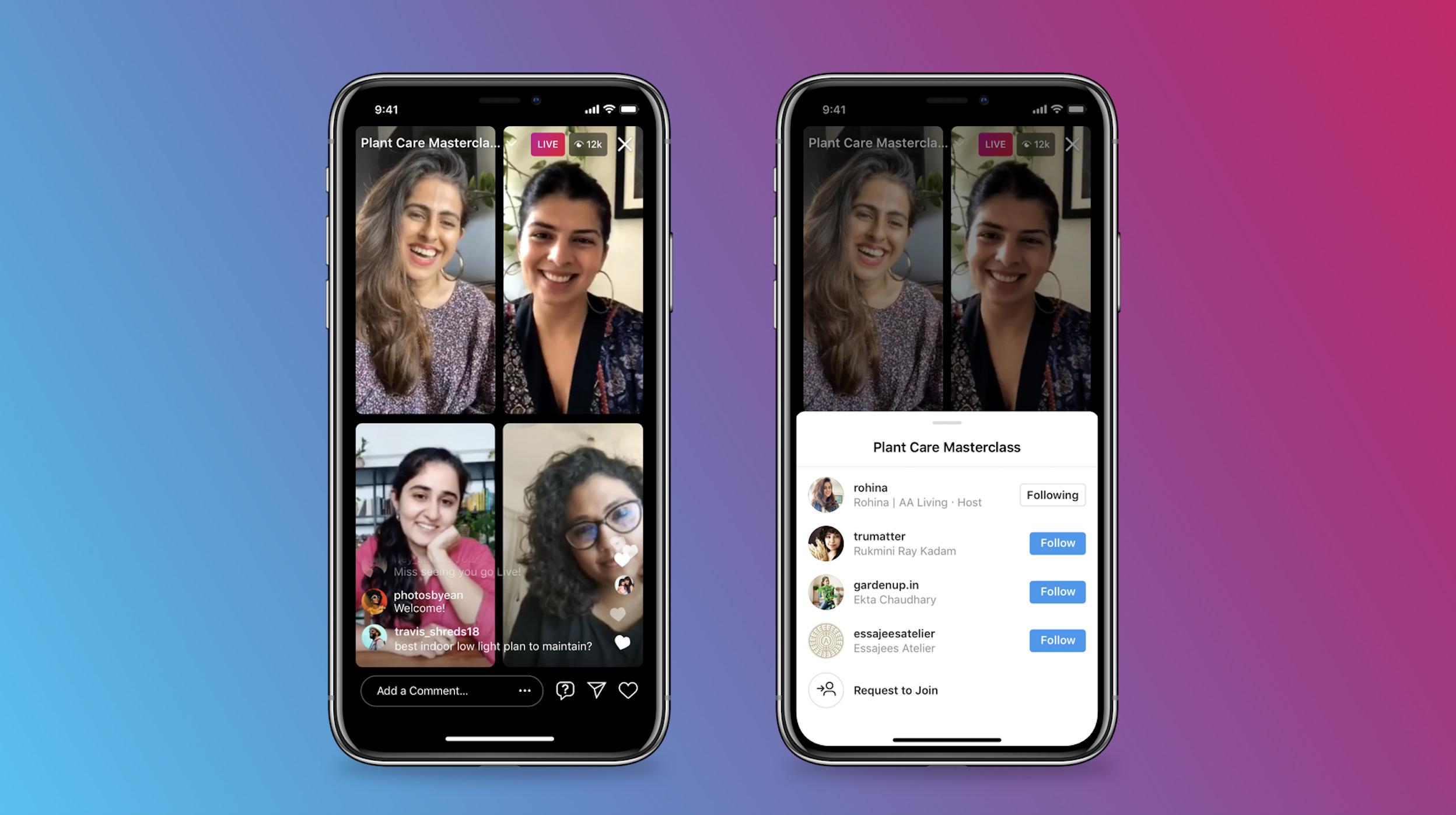 Avec Live Rooms, Instagram permet de débattre en direct à plusieurs