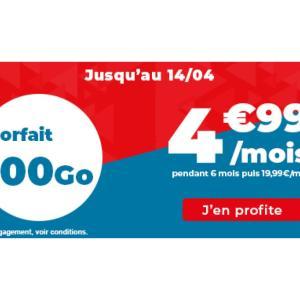 Quand la 4G devient pas chère avec ce forfait mobile 100 Go à 4,99 €/mois