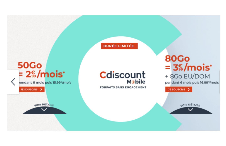 Forfait mobile 4G : de 50 à 80 Go à partir de seulement 2,99 euros/mois