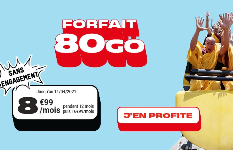 Voici un nouveau forfait mobile 80 Go à moins de 9 euros par mois
