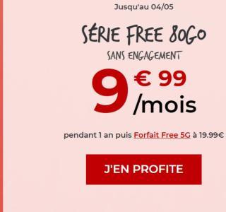 Le forfait Série Free passe de 70 à 80 Go, toujours pour 9,99 € par mois