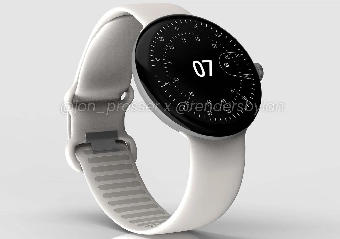 Google Pixel Watch: la montre connectée tout en sobriété se dévoile en rendus 3D