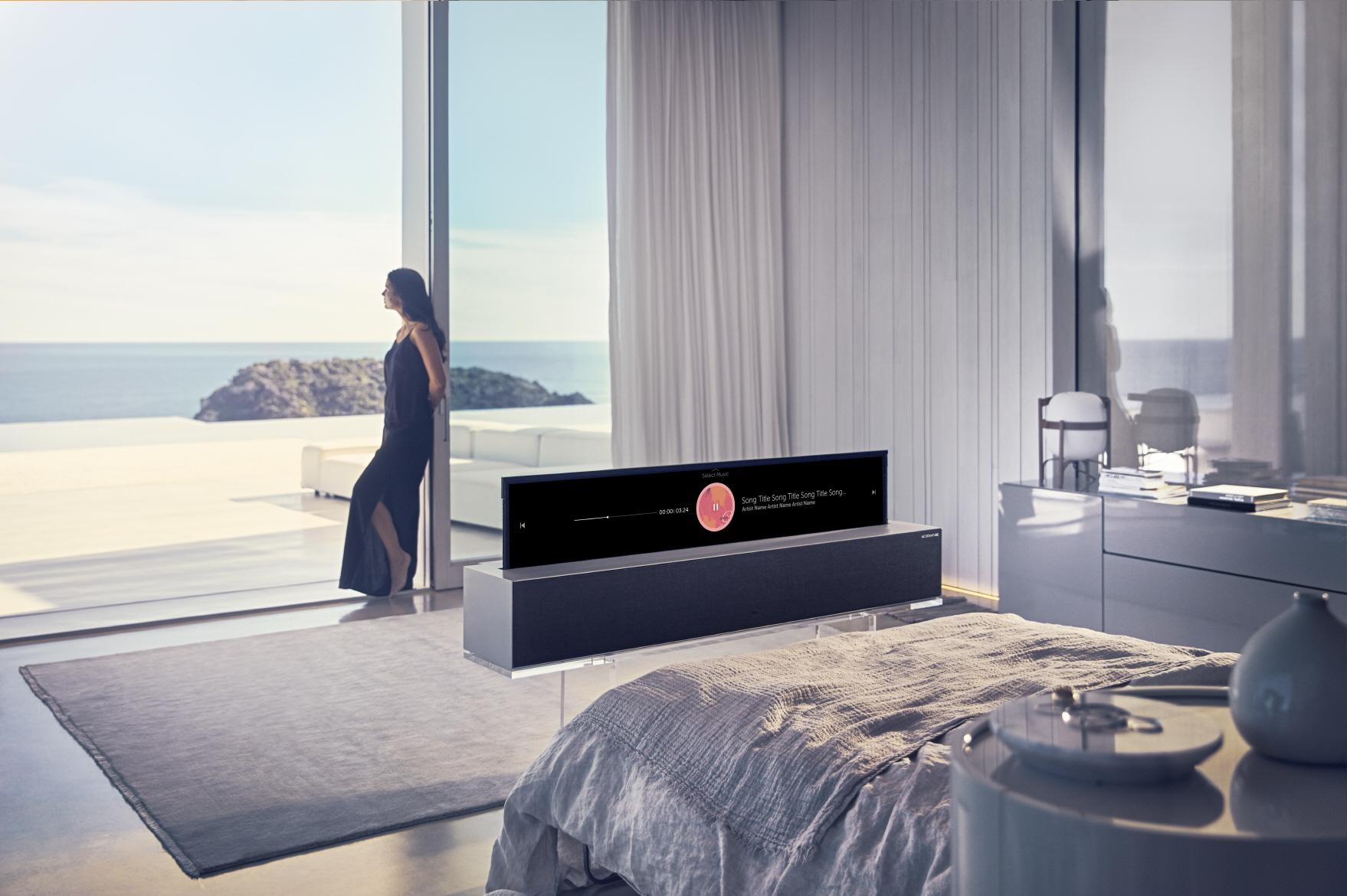 Le téléviseur OLED enroulable LG a enfin un prix de vente en France