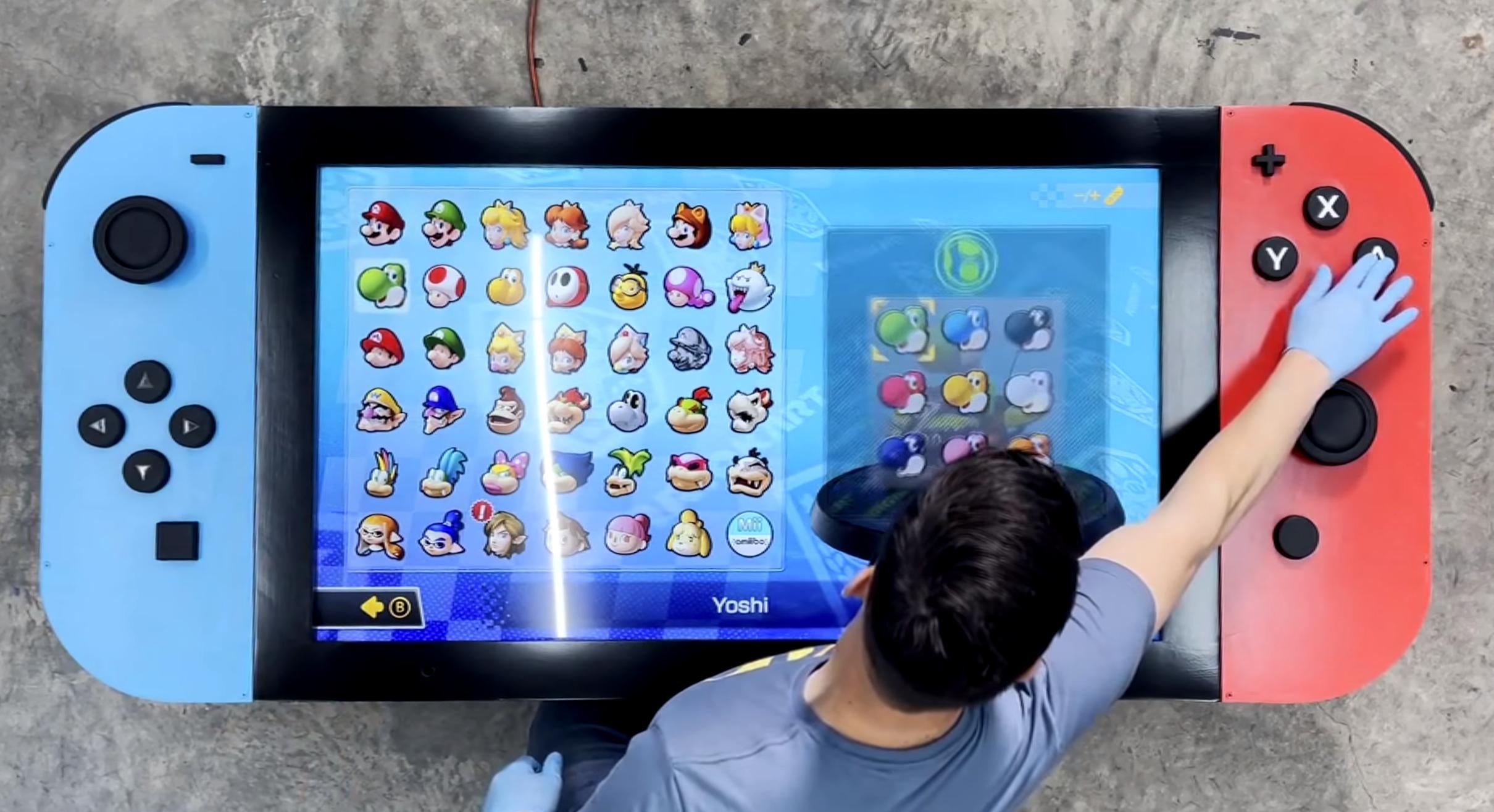 Un ingénieur crée la Nintendo Switch «la plus grande du monde» 100% fonctionnelle