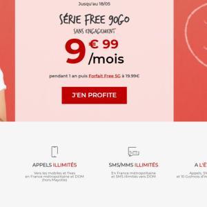 Face à la concurrence, Free dégaine un forfait 90 Go à moins de 10 €/mois