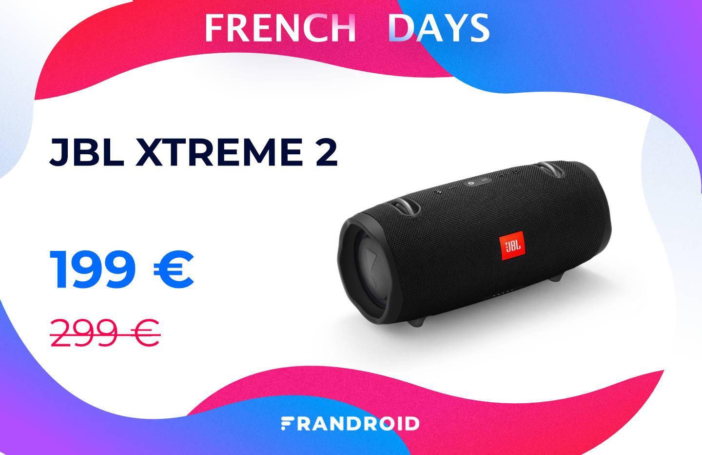 La puissante enceinte Bluetooth JBL Xtreme 2 perd 100 € pour les French Days