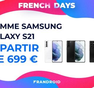 French Days : toute la gamme Samsung Galaxy S21 est en forte promotion